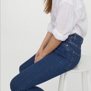 H&M High Waist Skinny Ankle Denim Jeans